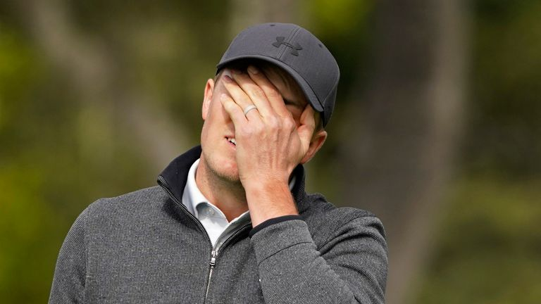 Spieth's bogey at the 14th ended his challenge at Pebble Beach