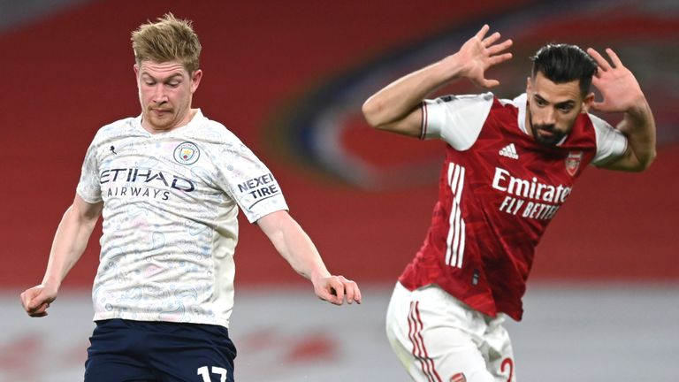 Kevin De Bruyne played 63 minutes on his return to the starting line-up