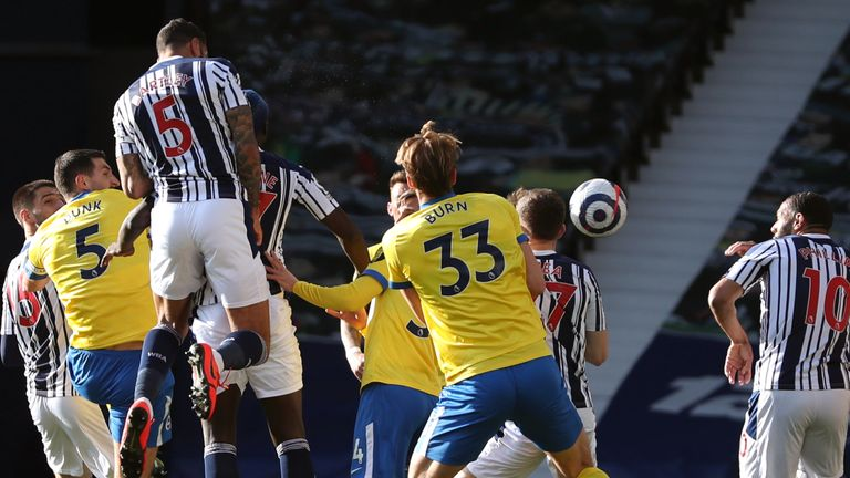 Kyle Bartley rises highest to head West Brom in front