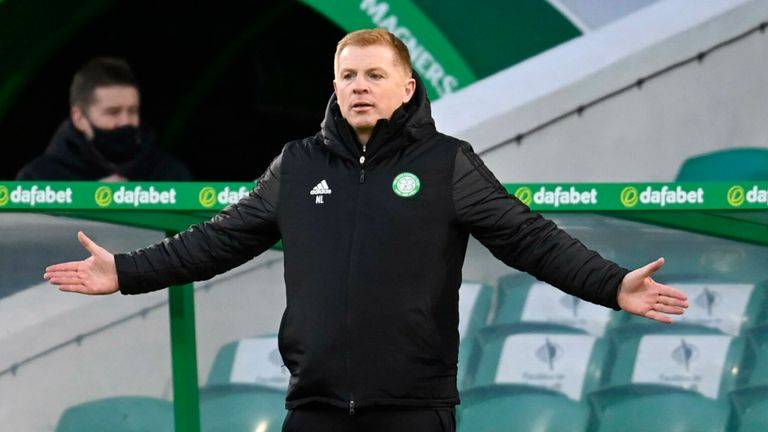 GLASGOW, SCOTLAND - JANUARY 30: Celtic manager Neil Lennon during a Scottish Premiership match between Celtic and St Mirren at Celtic Park, on January 30, 2021, in Glasgow, Scotland. (Photo by Rob Casey / SNS Group)