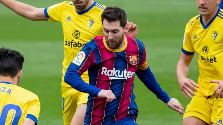 Lionel Messi scored but Barcelona were pegged back to draw 1-1