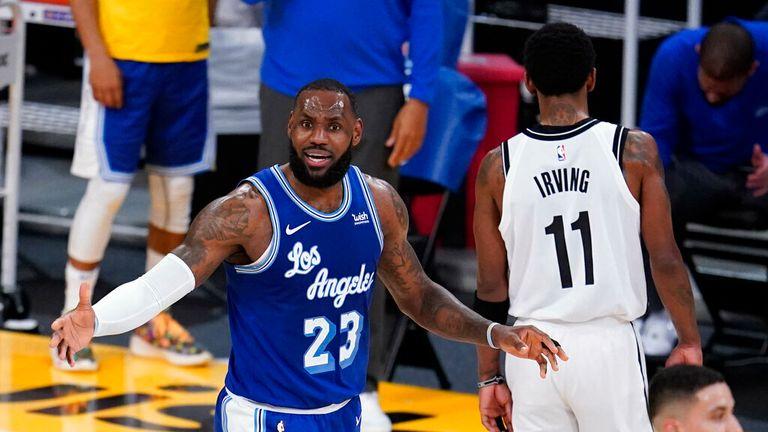 AP -  forward LeBron James argues a call