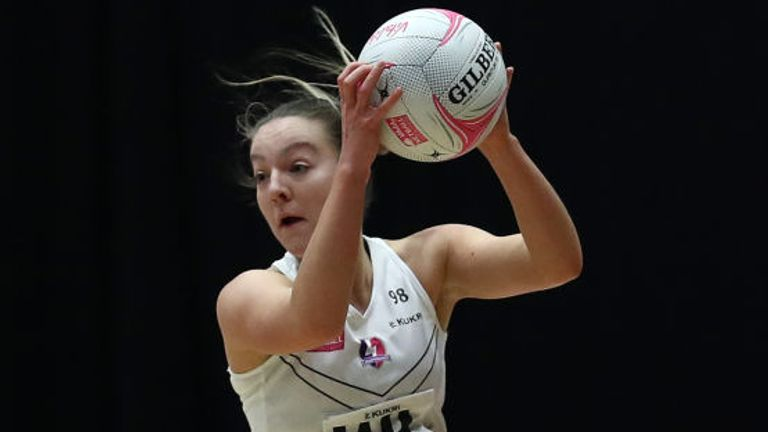 Hannah Williams of Loughborough Lightning in action against Bath