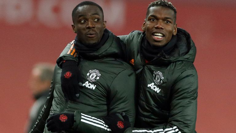 Eric Bailly and Paul Pogba, Manchester United