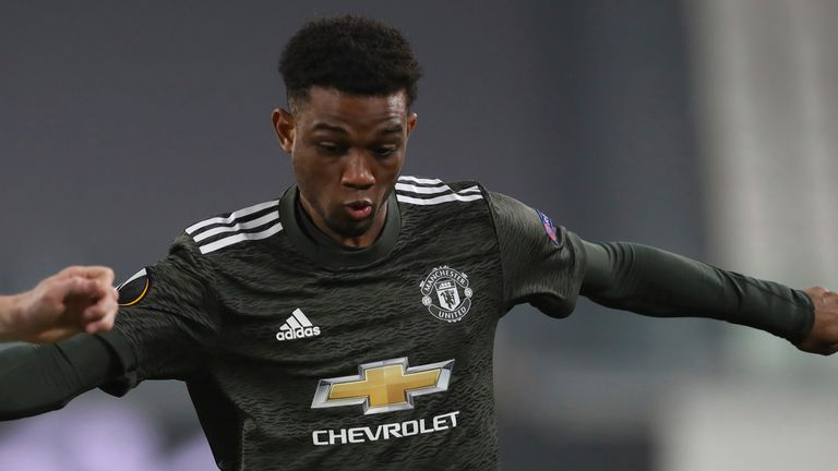 Amad Diallo came off the bench for his Manchester United debut in Thursday's comfortable 4-0 Europa League round of 32 first-leg win against Real Sociedad