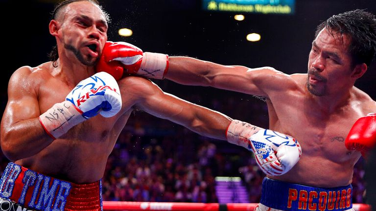 Pacquiao won the WBA welterweight title from Thurman