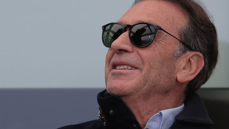 BRESCIA, ITALY - FEBRUARY 09: Brescia Calcio President Massimo Cellino looks on during the Serie A match between Brescia Calcio and Udinese Calcio at Stadio Mario Rigamonti on February 9, 2020 in Brescia, Italy. (Photo by Emilio Andreoli/Getty Images)