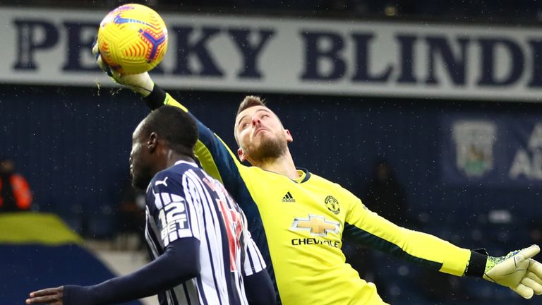 David de Gea denied Mbaye Diagne late on