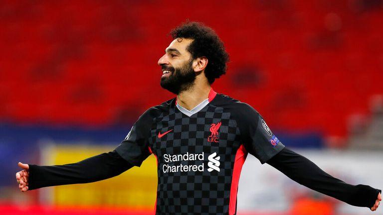 Mohamed Salah scored Liverpool's first goal
