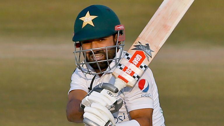 Mohammad Rizwan will resume day four in Rawalpindi on 28 with Pakistan 129-6