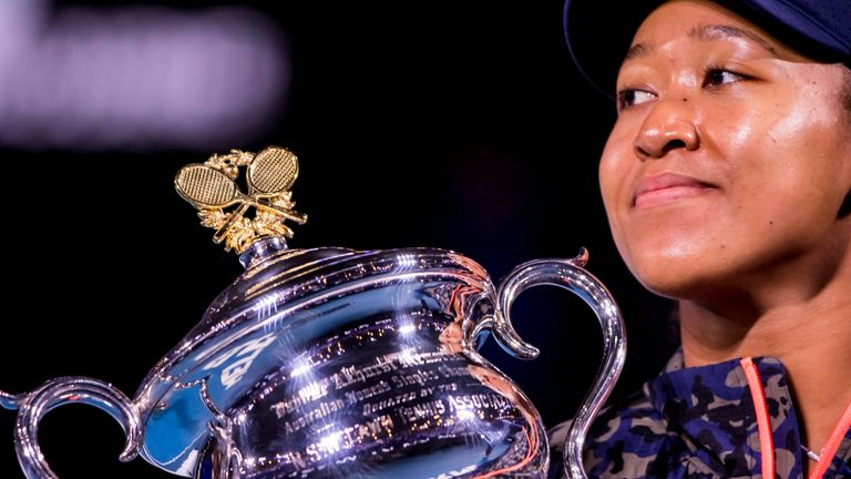 Osaka won the Australian Open for the second time earlier this year and is on a 21-match winning streak