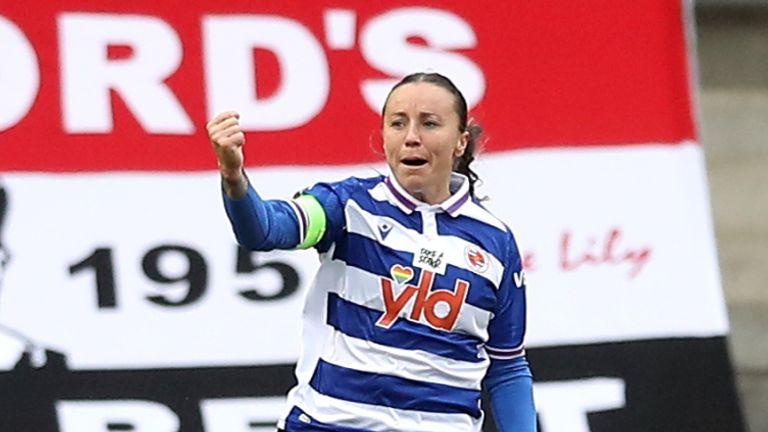 Natasha Harding was on target as Reading surprised Manchester United