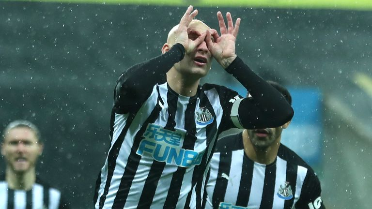 Shelvey scored his first goal since July for Newcastle