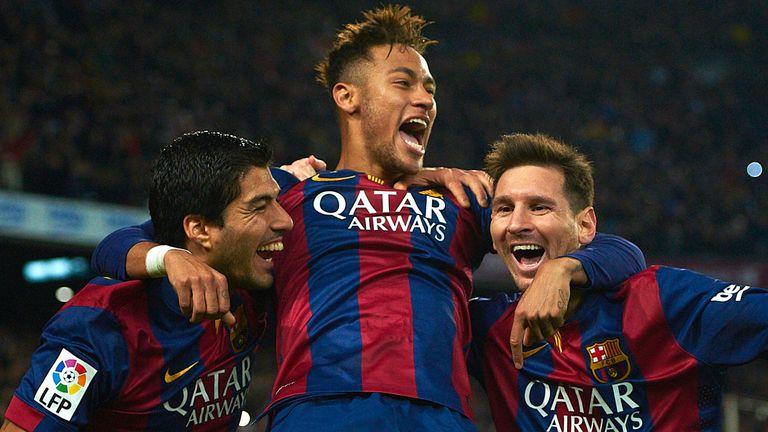 Neymar, Lionel Messi, Luis Suarez
