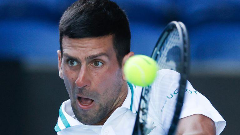 Djokovic is bidding for an unprecedented ninth Melbourne title