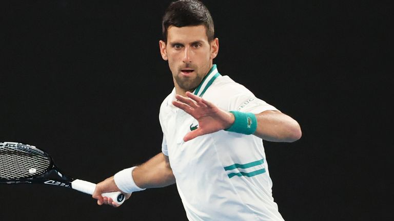 Novak Djokovic said after his third-round win against Taylor Fritz he feared he had suffered an abdominal strain