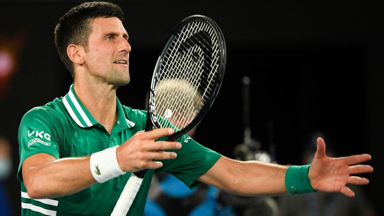 The top-ranked Djokovic has never lost at Melbourne Park after making it to the last four