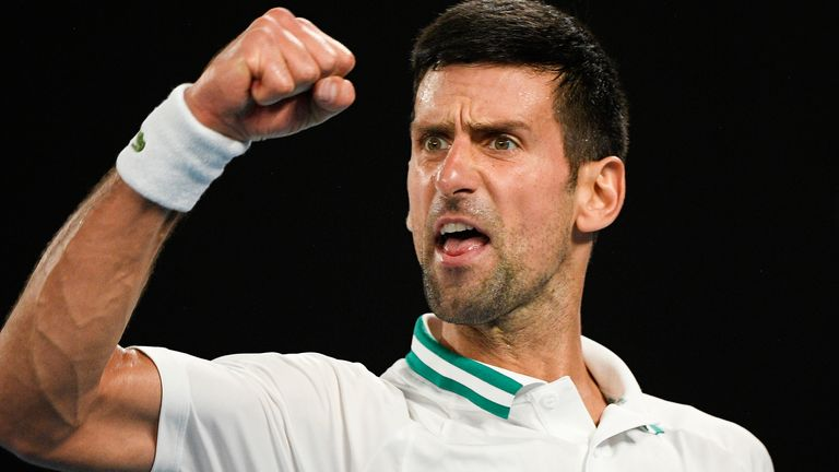 Djokovic won his first Grand Slam at the Australian Open in 2008