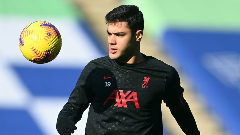 Liverpool's Ozan Kabak at the King Power Stadium