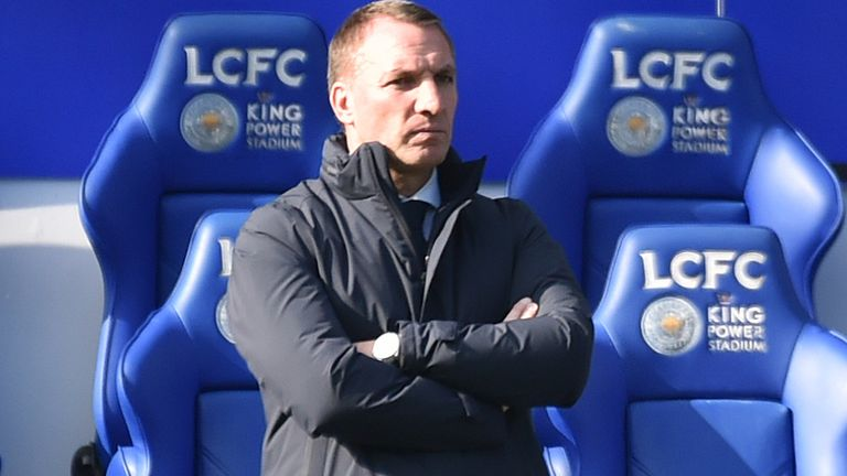 PA - Leicester City manager Brendan Rodgers