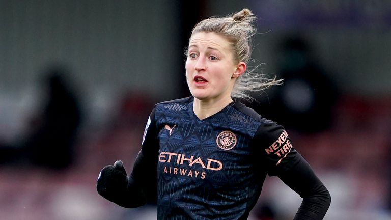 PA - Manchester City striker Ellen White in action in the WSL