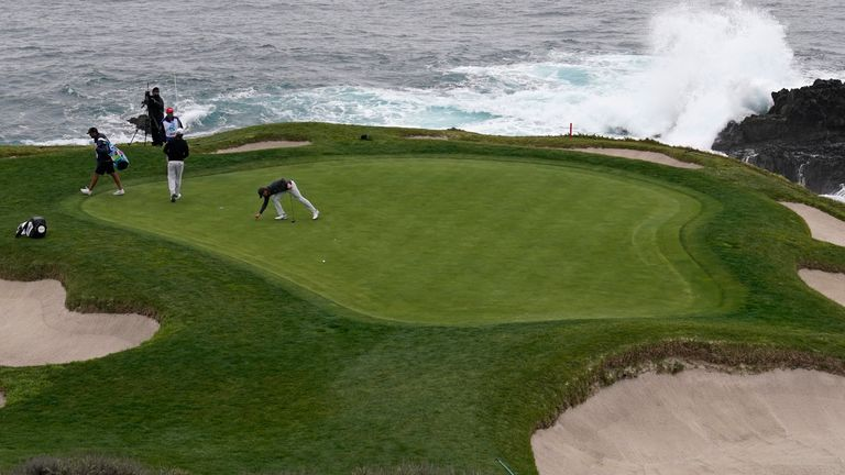 This year's AT&T Pebble Beach Pro-Am went ahead without spectators or amateurs because of Covid-19 restrictions