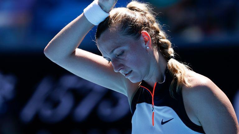 Petra Kvitova suffered a shock exit at the hands of Sorana Cirstea