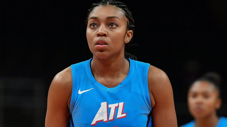 Renee Montgomery is one of the new owners of the Atlanta Dream (AP image)