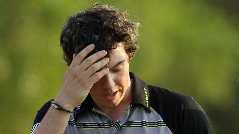 A look back at Rory McIlroy's final-round mishap at the 2011 Masters, when he let a four-shot lead slip and ended up tied for 15th place as Charl Schwartzel triumphed