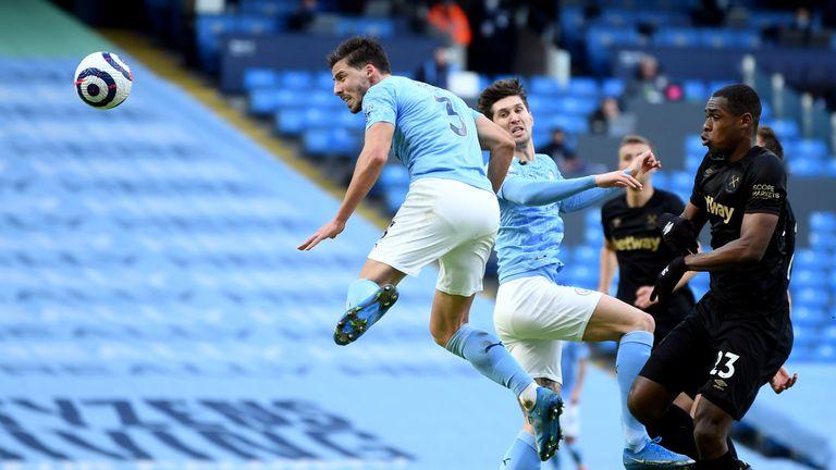 Ruben Dias heads Man City in front