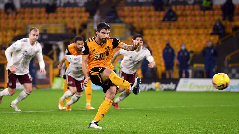Ruben Neves equalises from the spot