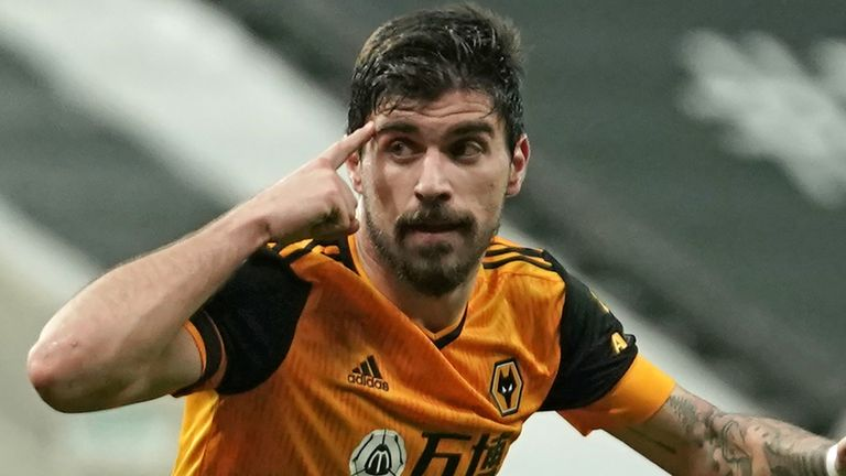 Ruben Neves celebrates the draw at St James's Park