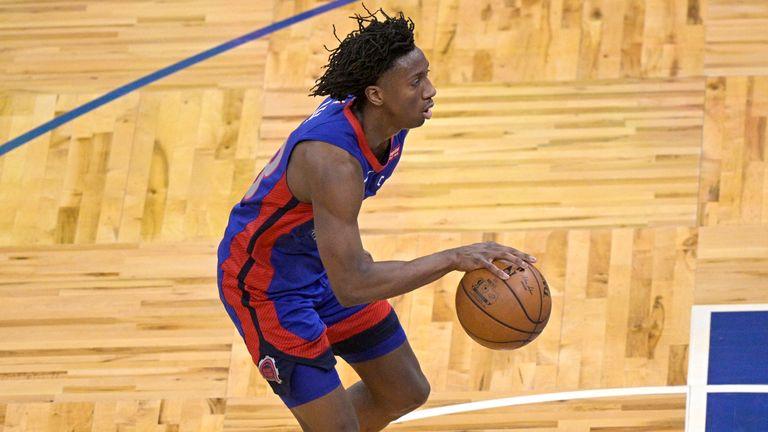 Detroit Pistons guard Saben Lee was the gamewinner in Florida (AP Photo/Phelan M. Ebenhack)