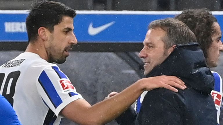 Sami Khedira made his Hertha Berlin debut