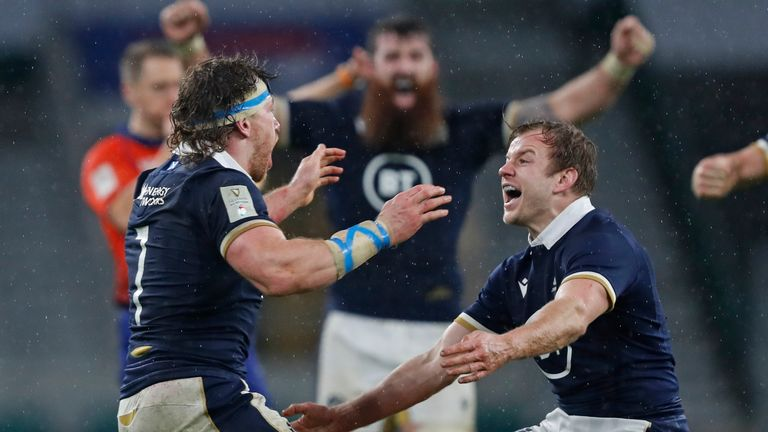 Scotland won at Twickenham for the first time since 1983