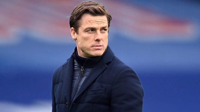 Fulham manager Scott Parker during the Premier League match at Selhurst Park, London. Picture date: Sunday February 28, 2021.