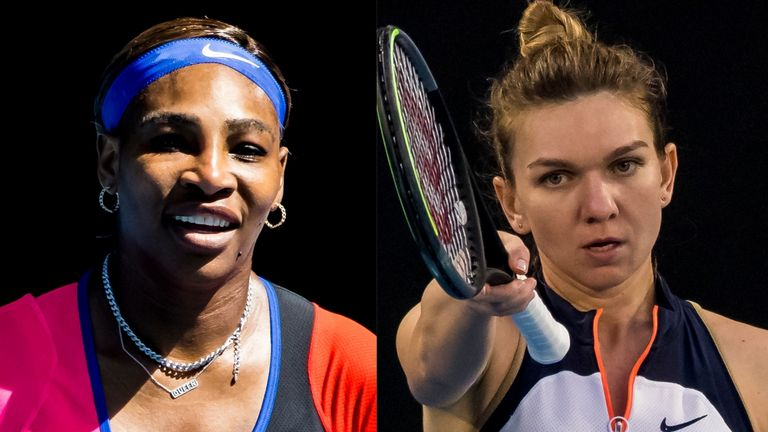 Serena Williams and Simona Halep will do battle for a place in the Australian Open semi-finals