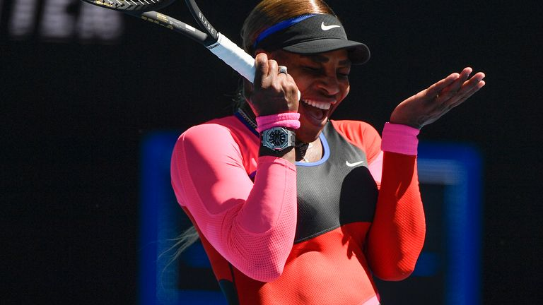 Williams finished with totals of 24 unforced errors and just 12 winners