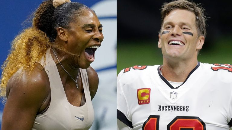 Serena Williams says she inspired by quarterback Tom Brady