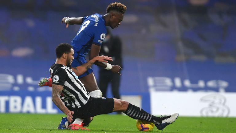 Lascelles tackle on Abraham