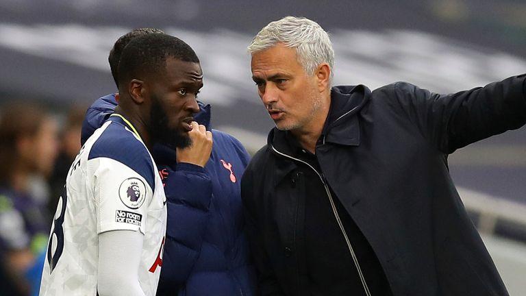 Tanguy Ndombele and Jose Mourinho (AP)