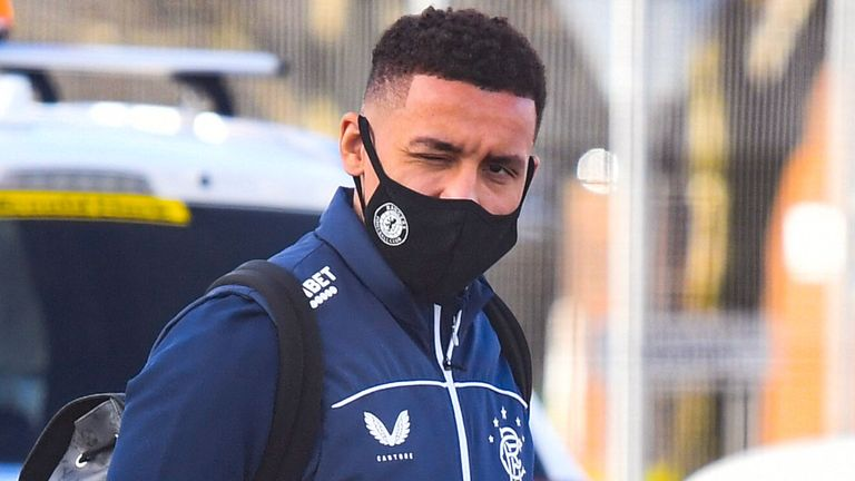 GLASGOW, SCOTLAND - FEBRUARY 16: Rangers Captain James Tavernier is pictured as Rangers depart for the their Europa League match against Royal Antwerp at Glasgow Airport, on February 17, 2021, in Glasgow, Scotland (Photo by Ross MacDonald / SNS Group)