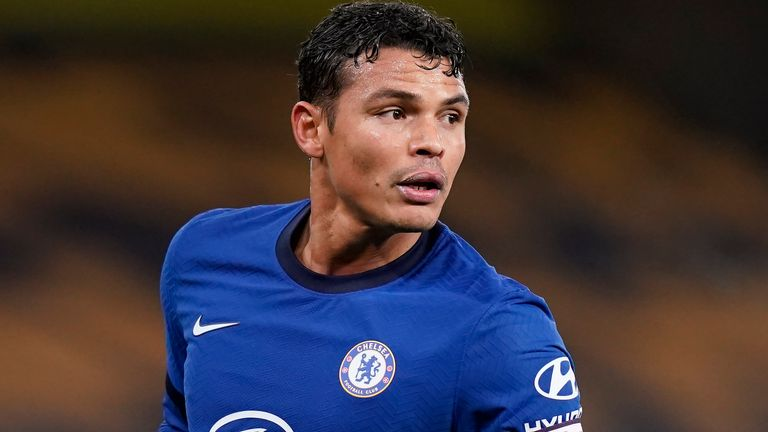 December 15, 2020, Wolverhampton, United Kingdom: Thiago Silva of Chelsea during the Premier League match at Molineux, Wolverhampton. Picture date: 15th December 2020. Picture credit should read: Andrew Yates/Sportimage(Credit Image: © Andrew Yates/CSM via ZUMA Wire) (Cal Sport Media via AP Images)