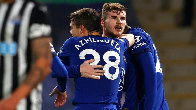 Timo Werner scored Chelsea's second