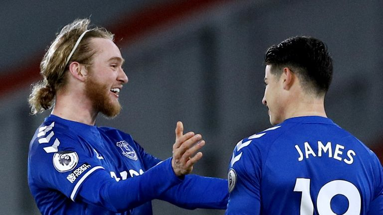 Everton's Tom Davies was outstanding at Anfield
