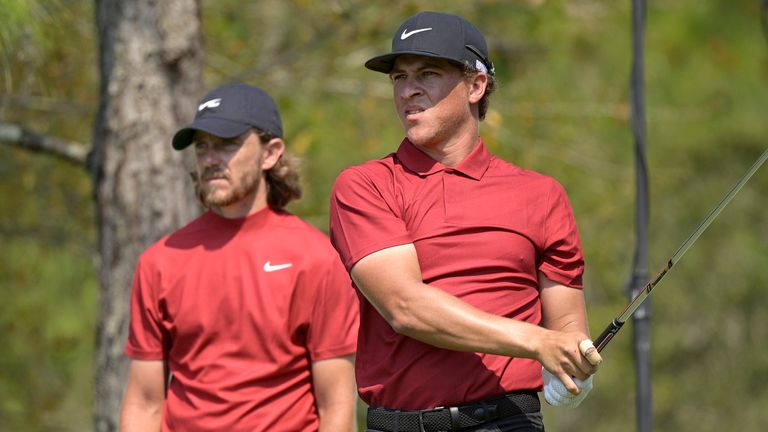 Many players wore red shirts as a tribute to Woods at the WGC-Workday Championship