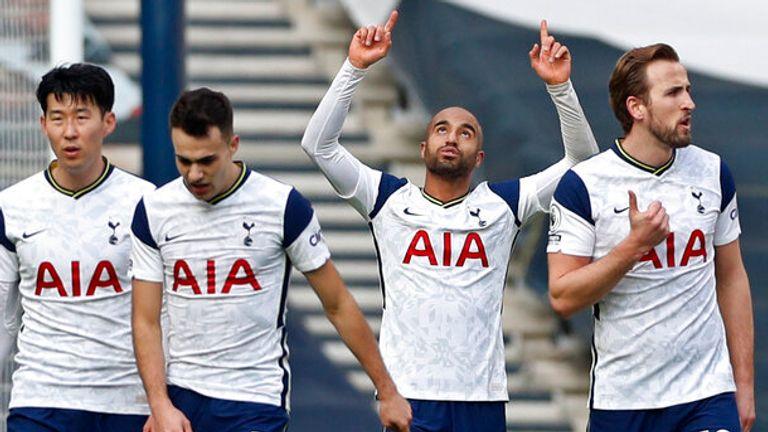 Lucas Moura scored Tottenham's third