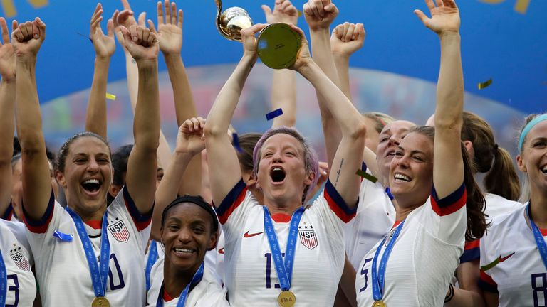 The USA Women's side won the 2019 Women's World Cup after beating the Netherlands in the final