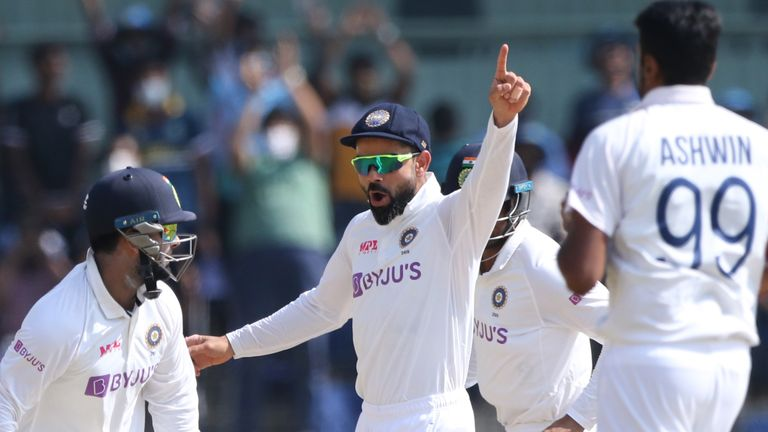 Virat Kohli's India side trounced England by 317 runs in the second Test in Chennai (Pic credit - BCCI)