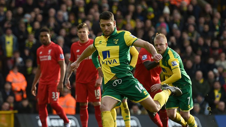 Hoolahan played for Norwich for 10 years